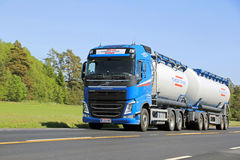 Volvo FH Tank Truck in High Speed Stock Photography