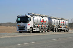Volvo FH Tanker Truck on the Road Royalty Free Stock Image