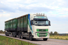 Volvo FH Transport of Recyclable Materials at Summer royalty free stock photo