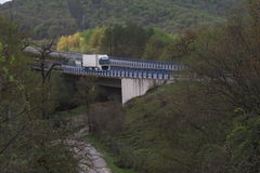 Volvo FH truck cargo on highway Royalty Free Stock Photos