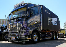 Volvo FH16 Truck for Energy Wood Transport in a Show Royalty Free Stock Images