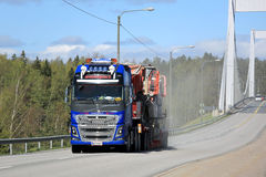 Volvo FH16 Truck Hauls an Exceptional Load Stock Photography