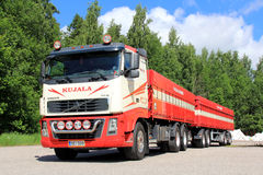 Volvo FH 16 Truck with Trailer Stock Photos