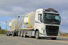 Volvo FH truck Transports Construction Materials in Silos Stock Photography