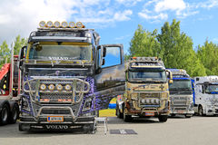 Volvo FH Trucks with Lots of Chrome Royalty Free Stock Photo