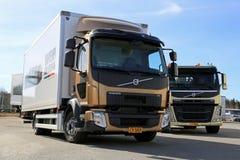 Volvo FL512 CitiPro en FM11 HookPro-Vrachtwagens royalty-vrije stock foto's