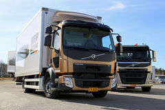 Volvo FL512 CitiPro and FM11 HookPro Trucks Royalty Free Stock Photos