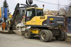 Volvo-graver op plicht Stock Afbeelding