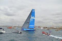 Volvo havlopp Team Vestas Wind Departs Arkivfoto