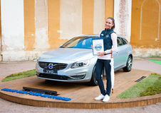 Volvo hybrid car v60 model Royalty Free Stock Photography