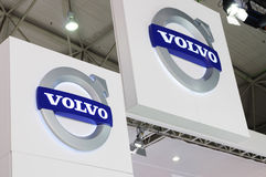 Volvo logo. Road to China's West - 13th Chengdu Motor Show,September 18th-24th,2010 royalty free stock photos