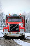 Volvo N12 Full Trailer Truck year 1990 with 2,8 M km on the Odom Stock Images