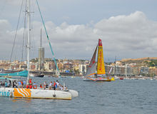 Volvo Ocean Race 2014 - 2015 Abu Dhabi Ocean Racing Stock Photography