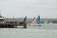 Volvo Ocean Race.Auckland stopover. Stock Photography