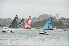 Volvo Ocean Race.Auckland stopover. Royalty Free Stock Photography