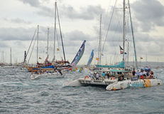 Volvo Ocean Race The Boats Dissapear Stock Image