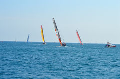 The Volvo Ocean Race Boats Sailing Yachting Royalty Free Stock Photos