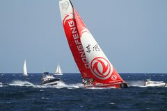Volvo Ocean Race 2017-18. Epic start of the Volvo Ocean Race 2017-18 and possibly one of the most exciting start we`ve seen from Alicante stock images