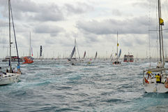 Volvo Ocean Race The Fleet Disappears Royalty Free Stock Images