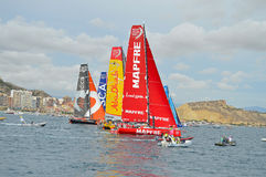 Sailing Yachts The Volvo Ocean Race Fleet Royalty Free Stock Images