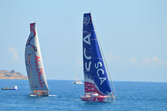 Sailing Yachting Racing Yachts Competing - Volvo Ocean Race Stock Images