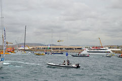 Volvo Ocean Race Mayhem - Traffic Jam At Sea  Stock Photos