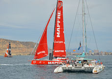 Volvo Ocean Race 2014 - 2015 A Near Miss Royalty Free Stock Photography