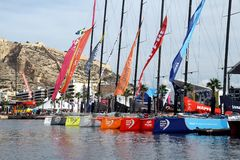 Volvo Ocean Race sailboats inport Stock Photos