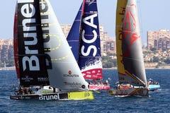 Volvo Ocean Race sailboats in race Royalty Free Stock Photos