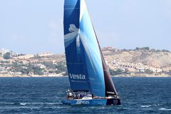 Volvo Ocean Race sailboats in race Royalty Free Stock Image