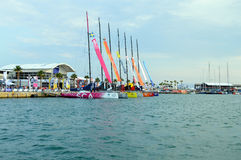 Volvo Ocean Race Sailing Fleet 2014 - 2015 Stock Photos