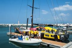 Volvo Ocean Race 2014-2015 in Sanya Royalty Free Stock Photo