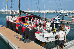 Volvo Ocean Race 2014-2015 in Sanya Stock Photos