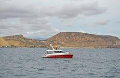 Volvo Ocean Race Start Boat - Sailing Sea Royalty Free Stock Photo