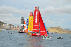 Volvo Ocean Race. The start of the 2014 to 2015 Volvo ocean Race royalty free stock photography