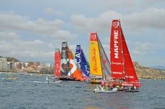Volvo Ocean Race - Racing Yachts Sailing Boats Stock Photos