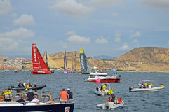 Volvo Ocean Race Start-Sailing Yacht Racing Stock Photography