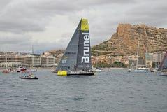 Sailing Yacht Racing Volvo Ocean Race Team Brunel Royalty Free Stock Image