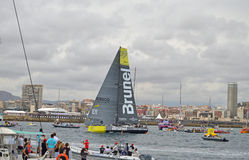 Volvo Ocean Race Team Brunel - Sailing Yacht Racing Stock Image