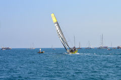 Volvo Ocean Race 2014 - 2015 Team Brunel Hard On The Wind Royalty Free Stock Photo