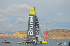 Volvo Ocean Race 2014 - 2015 Team Brunel Royalty Free Stock Images