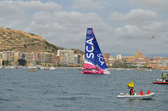 Volvo Ocean Race 2014 - 2015 Team SCA Stock Photography