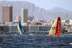 Volvo Ocean Race Teams fighting Royalty Free Stock Photos