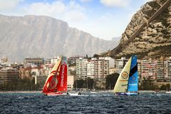 Volvo Ocean Race Teams fighting Royalty Free Stock Image