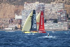 Volvo Ocean Race Teams fighting Royalty Free Stock Photo