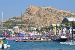 The Volvo Ocean Race Village In Alicante Before The start Of The Race In October 2014 Royalty Free Stock Image