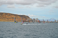 Sailing Racing Yachts The Volvo Ocean Racing Fleet Stock Photos