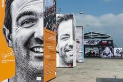 Volvo oceanu rasa 2014-2015 w Sanya Fotografia Royalty Free