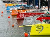 Volvo oceanu rasy przystanek Haga, holandie obrazy royalty free