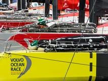 Volvo oceanu rasy przystanek Haga, holandie obraz royalty free